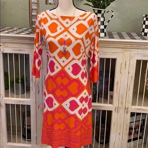 Geometric Print Jersey Dress